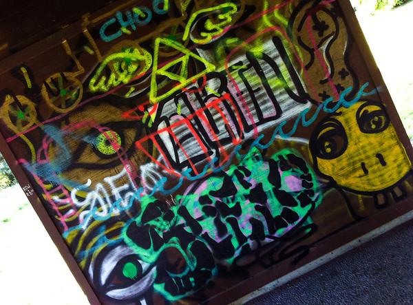 grafitti @ Marymoor Park-Redmond, WA 7-24-2012