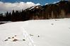 footprints to Lake Cle Elum, WA 3-12-2006