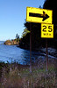 speed limit sign on Hwy 101 curves-Olympic Peninsula, WA 7-2008