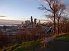 Seattle skyline, I-5, Elliott Bay from Jose Rizal Park, WA 2-2-2012