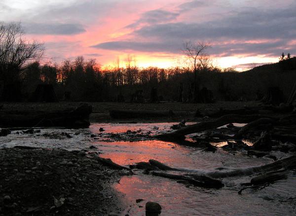 sunset above beach @ Rattlesnake Lake-North Bend, WA 11-17-2006