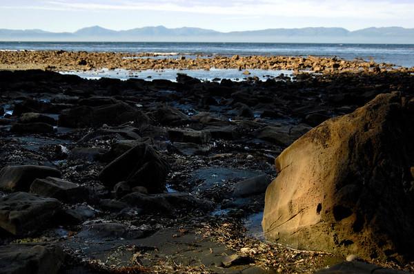 sunlit rock on Shipwreck Point, near Neah Bay, WA 7-2008