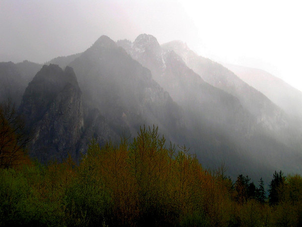 Mount Si in the mist-North Bend, WA 4-16-2006