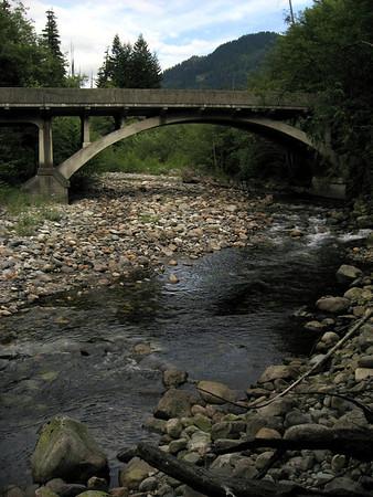 road-bridge over Denny Creek, near Snoqualmie Pass, WA 7-29-2006