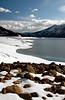 rocky, snowbound shoreline of Lake Cle Elum-Wenatchee National Forest, WA 3-12-2006
