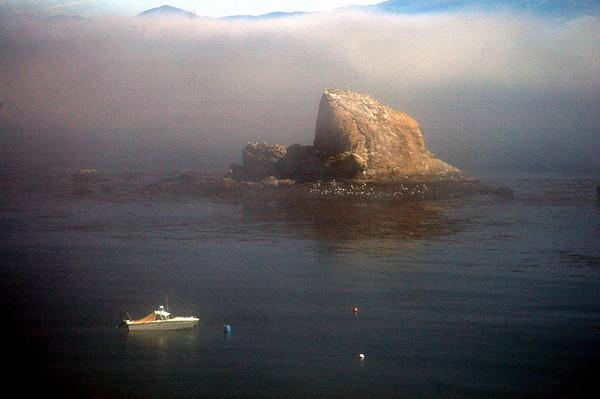 Sail Rock in the morning mist-Neah Bay, WA 7-2006