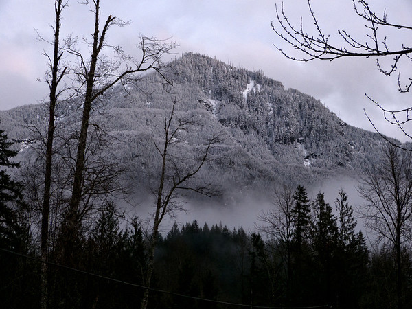 Mt. Washington in the mist<br /> North Bend, WA