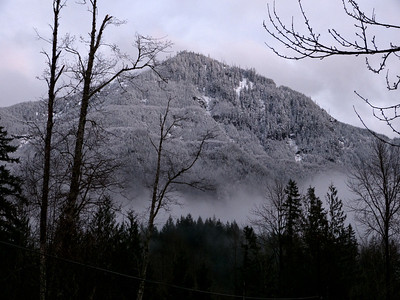 Mt. Washington in the mist North Bend, WA