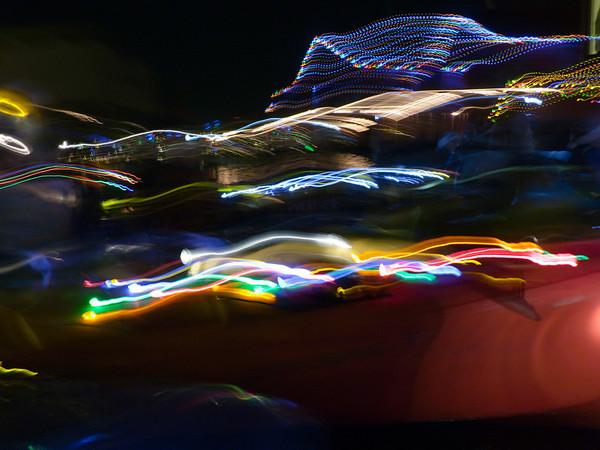 Christmas kayak lights-caroling with NWOC on Lake Union-Seattle, WA 12-3-2010