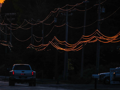 sunset on North Bend Way powerlines-close-up 6-2-2014