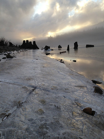 icy sunset @ Rattlesnake Lake<br /> North Bend, WA
