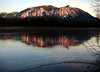 alpenglow on ice-Mount Si reflecting on Mill Pond-Snoqualmie, WA 1-23-2008