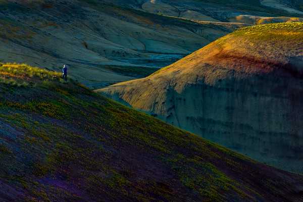 SUNSET SOLITUDE: PAINTED HILLS, JOHN DAY NATIONAL MONUMENT, OREGON