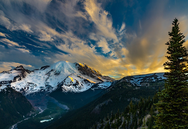 SUNSET FROM SUNRISE: MT. RAINIER NATIONAL PARK, WASHINGTON