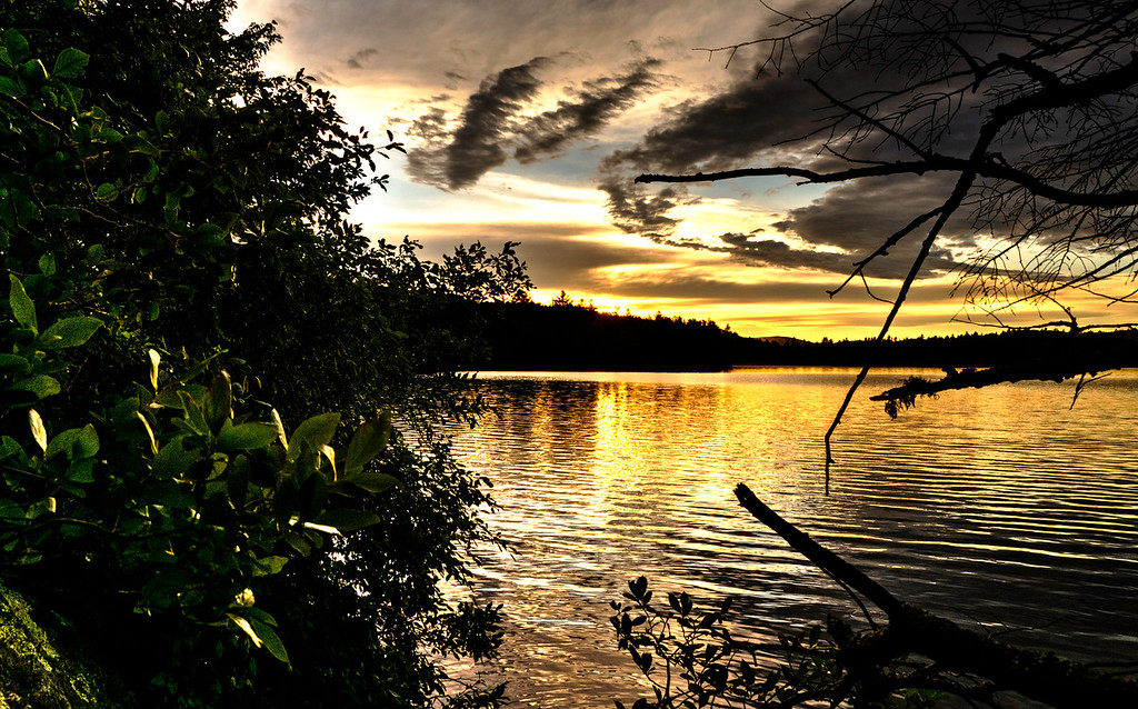 Loon Pond sunset - another perspective