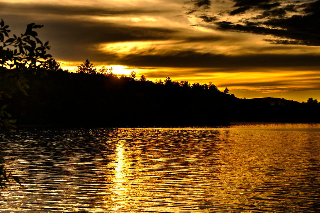 One of many beautiful sunsets on Loon Pond