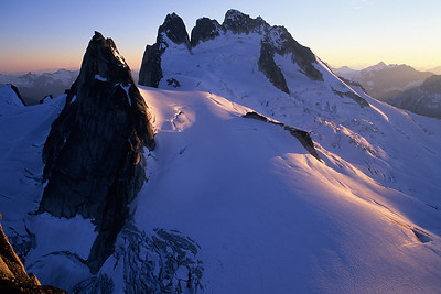 Sunset over the Howser Towers, Bugaboos