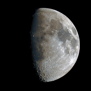 Waxing Gibbous Moon over the Scottish Highlands - 4354