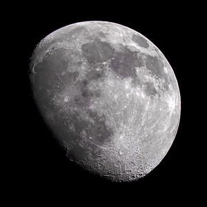 Waxing Gibbous Moon over the Scottish Highlands - 3608