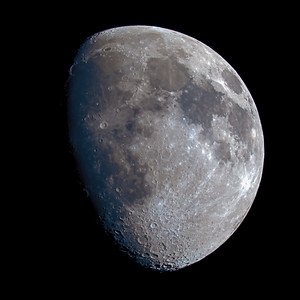 Waxing Gibbous Moon over the Scottish Highlands - 4384