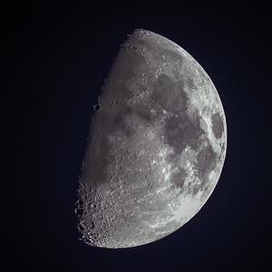 1st Quarter Moon over the Scottish Highlands - 3328