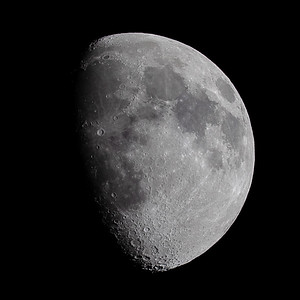Waxing Gibbous Moon over the Scottish Highlands - 3471