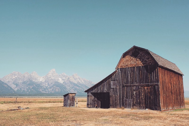 Barns and Mountains