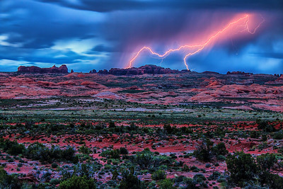 STORMY NIGHT AT ARCHES NP