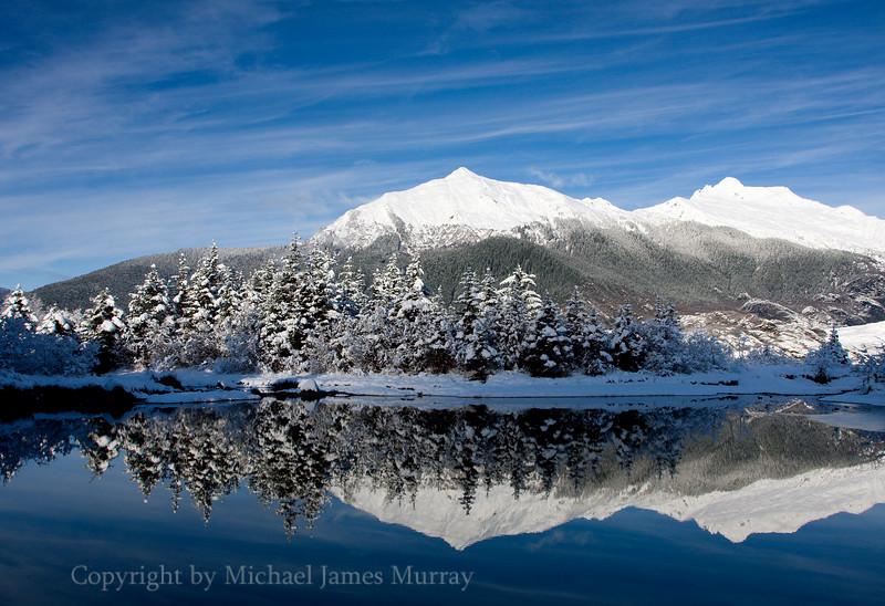 Mount McGuiness, Reflection in Beaver Pond, Juneau, Alaska