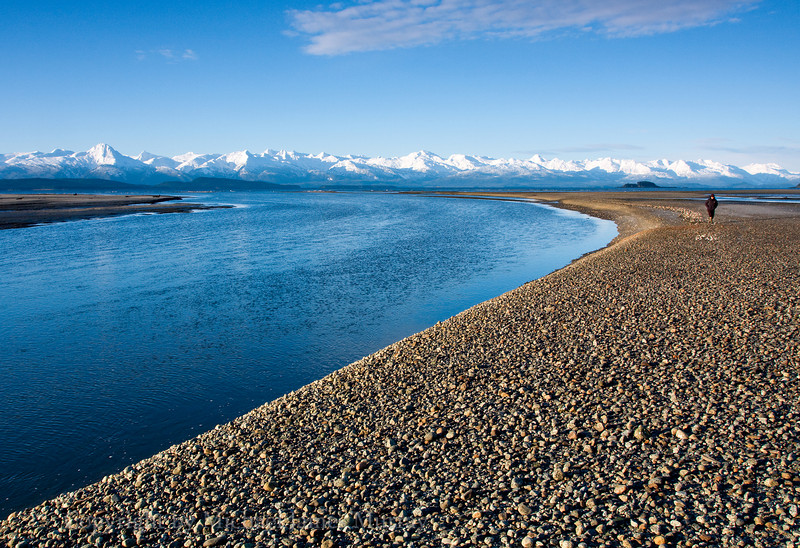 Eagle Beach with View of Chilkat Mountains, Juneau, Alaska