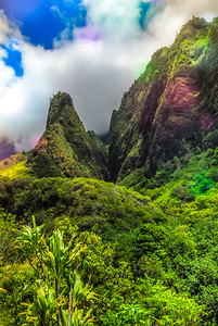 Iao Needle Rainbow Splash