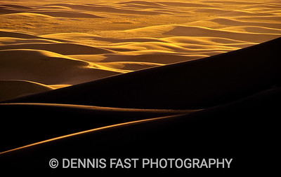 GREAT SAND DUNES NATIONAL PARK & PRESERVE, COLORADO.  It was extremely windy and cold when I climbed up the Great Sand Dunes of Colorado one February day. It seemed I took two steps forward and one back as I worked my way up the huge dunes trying to keep the wind at my back. Only the increasingly spectacular view kept me going.