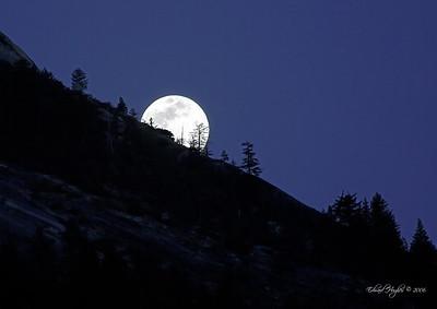 Moonrise over Yosemite