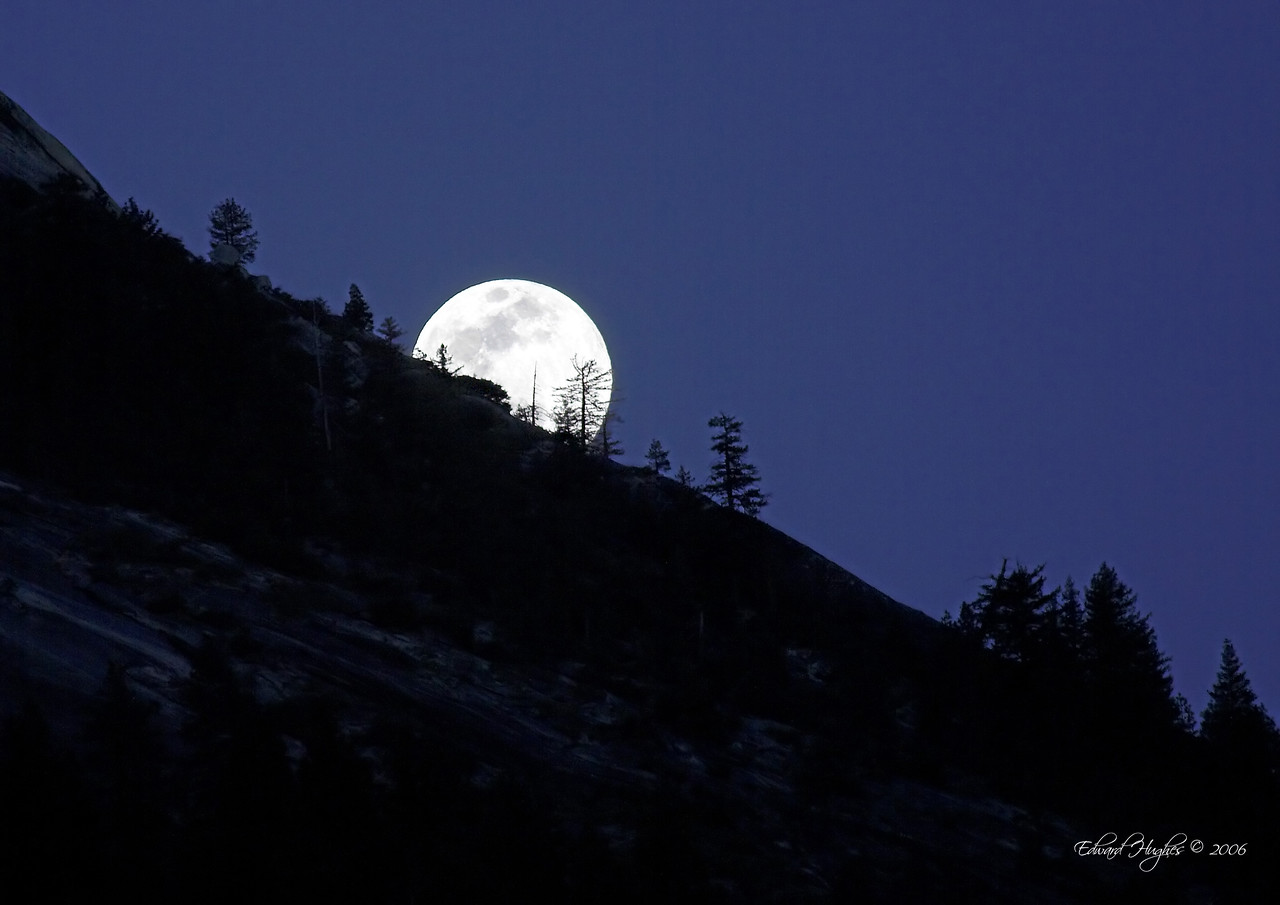 Moonrise over Yosemite