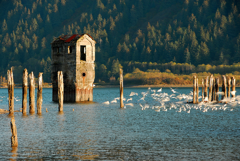 Old Mine Pump Station, Gastineau Channel, Juneau, Alaska.