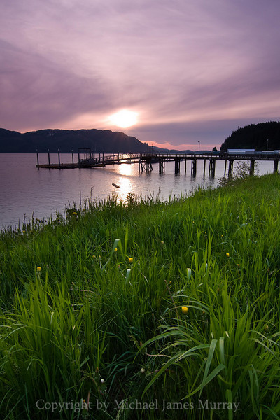 Sunset over Port Frederick, Hoonah, Alaska