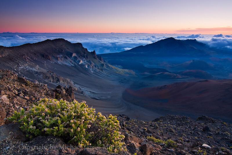 Sunrise Light at Haleakala Crater, Maui, Hawaii.