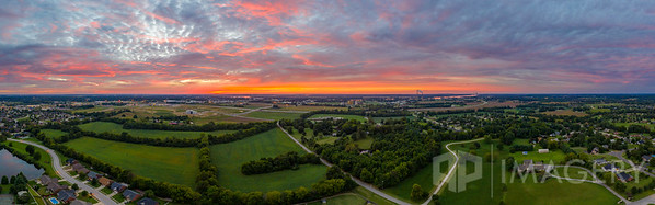 Aerial Panorama - Sunset