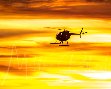 Fire in the Sky ________________________________ @trompskies was up on skyspace LA ready for us to fly by.  He grabbed some incredible shots of @robin.at.tam and his new helicopter.   It is a Hughes 500 and has a 26.40 FT rotor with 400+HP.  We were going 145MPH!  Smooth flight.  Call 310-938-2727 to ride on the celebrity helicopter.