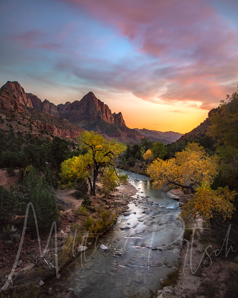 I am continuing to take you through a journey of Zion.  Here is another sunset from the bridge.