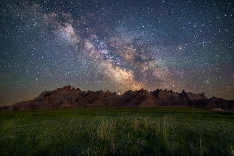 Milky Way Over Badlands - South Dakota