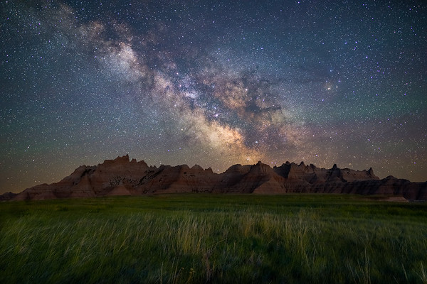 Milky Way Over Badlands - South Dakota