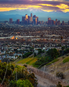 Los Angeles Sunrise from Kenneth Hahn.  See you tomorrow! 12 shot panorama with 150mm lens