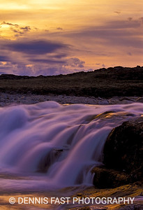 SILA RIVER FALLS, NUNAVUT.  The Sila River flows into Wager Bay, an offshoot of Hudson Bay, in Canada's North. A series of four gorgeous waterfalls increasing in height and volume as you move upstream were well worth the many hour hike to photograph them.