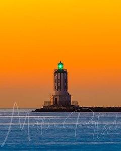 Orange Gradient.  Los Angeles Harbor Lighthouse