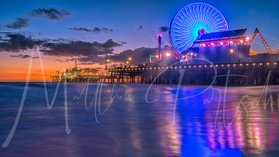 Santa Monica Pier - with the @donut.street.meet Lots of mist on my lens.
