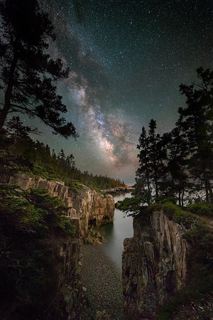 Milky Way over the Bold Coast of Maine