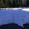 The road leading to Trillium Lake has been plowed!  Only 4x4s can reach the lake. Mud Creek Dam remains buried under feet of snow.<br /> <br /> Trillium Lake, Mount Hood, Oregon.  (2012)
