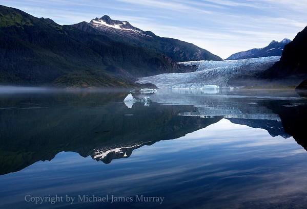 Mendenhall Glacier on a pristine September morning, Juneau, Alaska