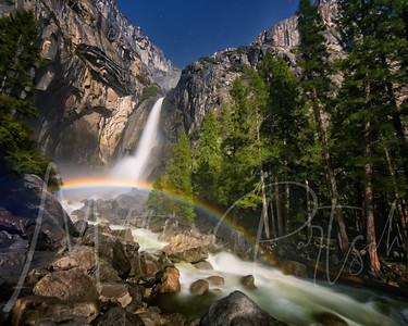 Yosemite lower falls moonbow May 17th 10:23 PM -------- Thanks to @brian.hawkins for his moonbow prediction website https://www.yosemitemoonbow.com ---- His prediction for lower falls was  May 17, 2019:  9:00PM (Fri) - 10:20PM (Fri) upper falls was May 17, 2019:  9:00PM (Fri) - 9:30PM (Fri) I'll post the tiny upper falls one later ---------------------------- I tried for 2 hours to capture the moonbow at the upper falls from across the meadow - waiting for the moon to peek out from behind the clouds.  After the time the moonbow was supposed to appear, the clouds cleared to let the moon out- and there was no moonbow to be seen as it was after the time it could be seen.  I knew there had to be one at the lower falls until 10:20.  So I ran up to the lower falls in the pitch black to witness the ghost moonbow.  At night, our eyes cannot see color due to the sensitivity of the rods and cones so the moonbow appears like a gray line in the mist, however, the camera captures it.  It really felt like I was seeing a ghost. This is a difficult shot because of the massive mist hitting the camera lens - it makes the image soft.  I tried keeping it clean but gave up quickly as my new camera was getting soaked!  My tip: don't stand in the mist!  (but I wanted that flowing water!)